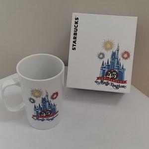 Disney/Starbucks 45th Anniversary Coffee Mug